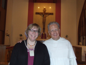 Erin McCole Cupp and Father Bernard Dupont, Religious Assistant