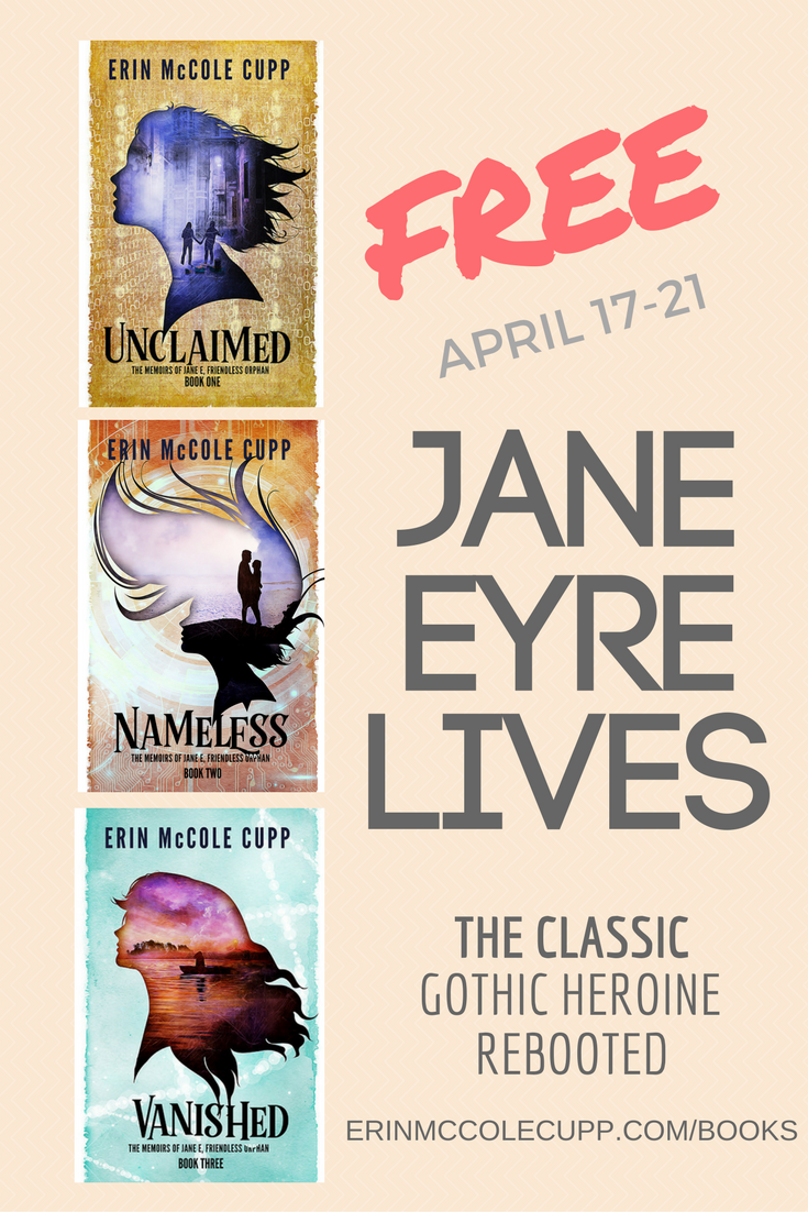 Jane Eyre LIVES: The Classic Gothic Heroine Rebooted #sf #cyberpunk THE MEMOIRS OF JANE E, FRIENDLESS ORPHAN are FREE April 17-21 in honor of Charlotte Bronte's 201st birthday!
