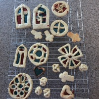 Stained Glass Cookies for Story of Civilization #homeschool #history #medieval